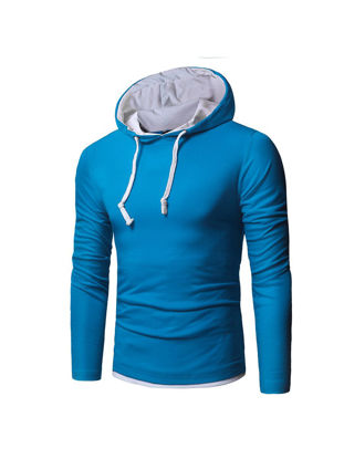 Picture of Men's Hoodie Casual All Match Hooded Long Sleeve Hoodie - Size: L