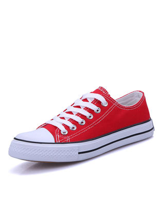 Picture of Women's Canvas Shoes Simple Trendy Solid Color All Match Lace Up Flat Casual Shoes - Size: 40