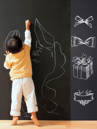 Picture of Self Adhesive Chalkboard Sticker DIY Wall Sticker Blackboard Sticker With 5 Chalk