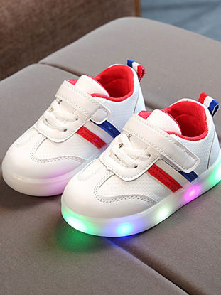 Picture of Kid's Light-up Shoes All Match Stylish Velcro Comfy Shoes - Size: 21