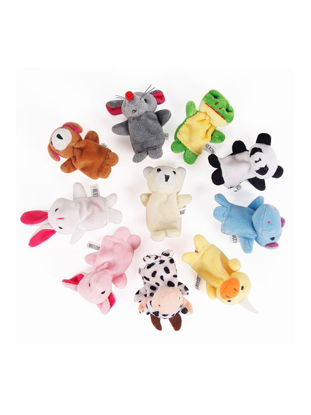 Picture of 10 Pcs/Set Baby's Finger Toy Cartoon Animal Pattern Comfy Fashion Toy - Size: One Size