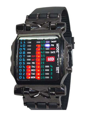 Picture of Men's LED Watch Creative Big Dial Fashion Electronic Wrist Watch Accessory - Size: One Size