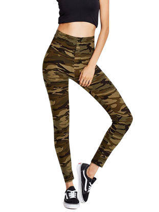 Picture of Women's Legging Camouflage Pattern Skinny High Waist Pants - Size: L
