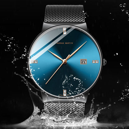 Picture of Hannah Martin Men's Quartz Watch Pointer Display Calendar Waterproof Watch Accessory - Size: One Size