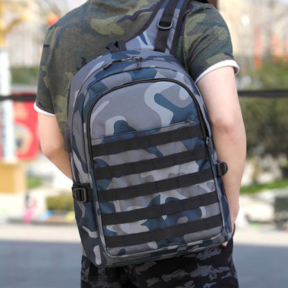Picture of Men's Backpack Camouflage Large Capacity USB Charge Fashion Bag - Size: One Size