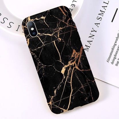 Picture of iPhone XS Ma Phone Cover Color Block Marble Pattern TPU Soft Case - Size: iPhone XS Max