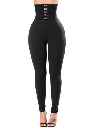 Picture of Women's Leggings Solid Color High Waist Skinny Leggings - Size:S