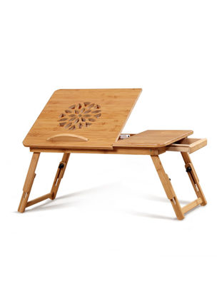 Picture of Mini Table Multifunctional Hollow Out Flower Design Computer Desk