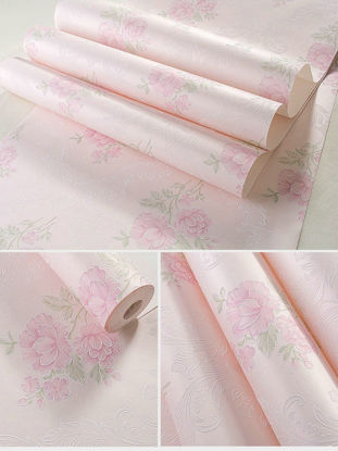 Picture of Wall Paper Non Woven Pastoral Style Flower Bedroom Living Room Decor