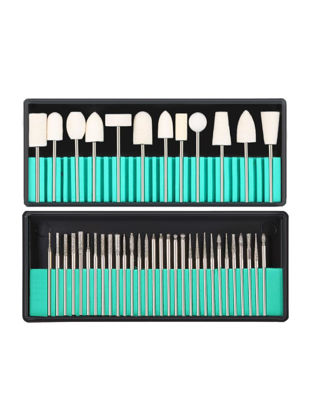 Picture of 30Pcs Nail Drill Bits With 13Pcs Wool Nail Dill Bits Kit Grinding Heads For Nail Art Machine