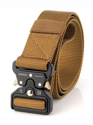 Picture of Men's Belt Stylish Fashion Solid Color Multifunction Tactics Buckle Belt - Size:Free