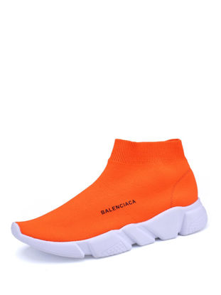 Picture of Men's Running Shoes Light Solid Color Ventilation Comfy Sports Casual Shoes - Size:43