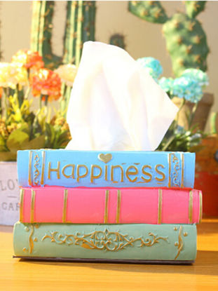 Picture of Desk Display Resin Tissue Box Creative Restaurant Paper Box Cylinder Napkin Box - Size:One Size