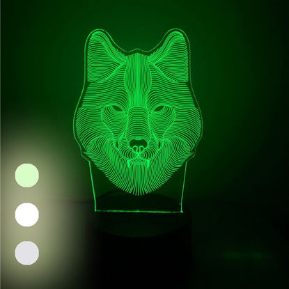 Picture of 1Pc YPZW Electronic Display Creative Wolf Head Glowing Decorative Accent - Size:One Size