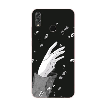 Picture of Huawei Series Phone Cover Simple Hand Pattern Protective Case - Size:HUAWEI MATE7