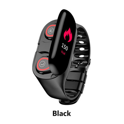 Picture of M1 Smart Bracelet Bluetooth Headphone Multi-Functional 2 In 1 Smart Band - Size:Free size