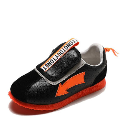 Picture of Kid's Sneakers Letter Pattern Colorblock Leisure Shoes - Size:29