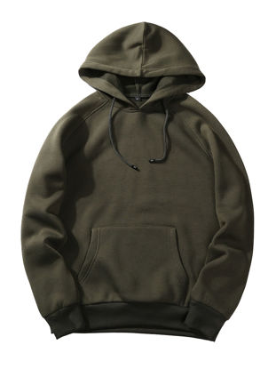 Picture of Men's Hoodie Solid Color All Match Fashion Popular Casual Hoodie - Size:L
