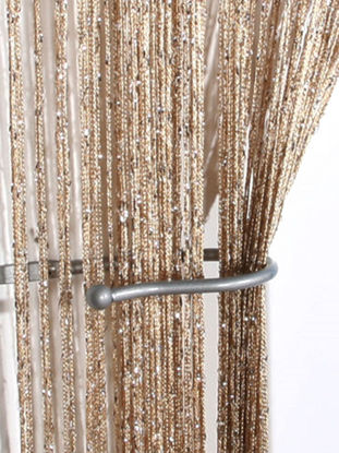 Picture of 1 Pc Door Curtain Beautiful Solid Color Home Decorative Partition Curtain - Size:One Size
