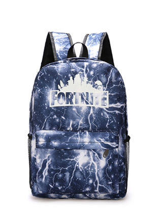 Picture of Fortnite Students Backpack Creative Design Colorful Faddish Boy's School Bag - Size:One Size