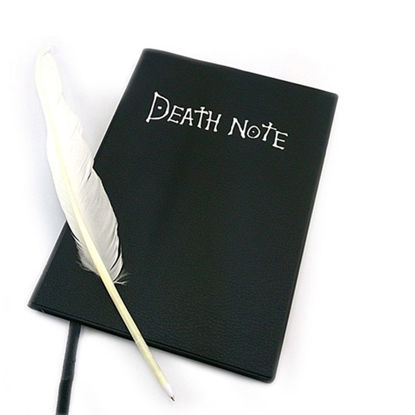 Picture of 1 Pc Notebook+1 Pc Feather Pen Preppy Style Writing Office Stationery - Size:One Size