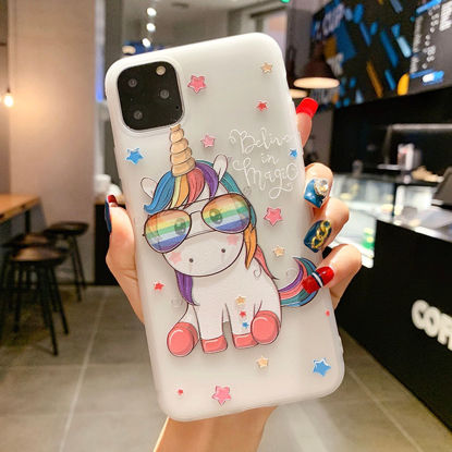 Picture of iPhone 6Plus/6S Plus Phone Cover Flamingo Unicorn Pattern Phone Case - Size:IPHONE 6Plus/6S Plus