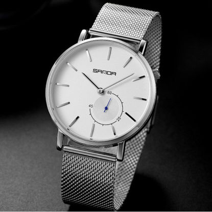 Picture of One Piece Men's Quartz Watch Fashion Casual Simple Business Ultra Thin Mesh Strap Watch - Size:One Size