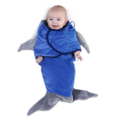 Picture of Baby's Sleeping Bag Shark Shape Soft Comfortable Sleeping Bag - Size:One Size