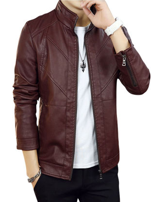 Picture of Men's Casual Jacket Fashion All Matched Solid Color Comfy Jacket - Size: L