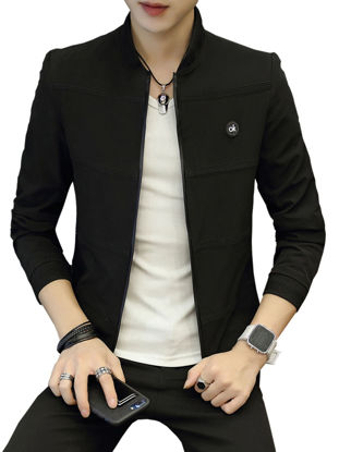 Picture of Men's Casual Jacket Zipper Vogue All Match Jacket - Size: XXL