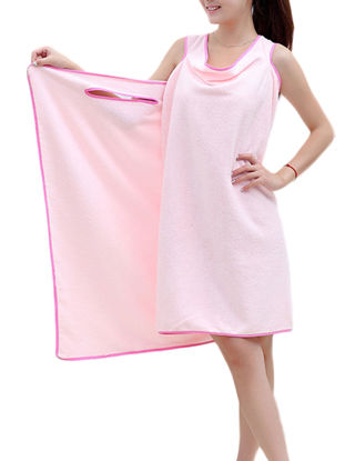 Picture of 1 Pc Bath Towel Creative Wearable Simple Solid Cozy Soft Water Absorption Bath Towel