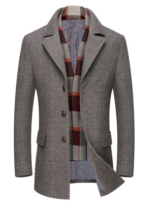 Picture of Men's Wool Blends Coat Single Breasted High Quality Chic Coat - Size: XXL