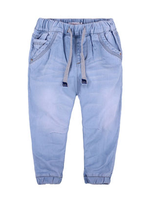 Picture of Toddlers Kid's Jeans Fashion Stylish Elastic String Sports Pants - Size: Reference Height:110cm
