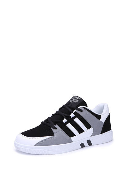 Picture of Men's Sneakers Lace Up Color Block Patchwork Fashion Simple Shoes - Size: 43