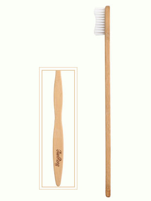 Picture of 1 Pc Toothbrush Environmental Protection Wood Superfine Bamboo Charcoal Toothbrush