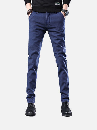 Picture of Men's Casual Pants Solid Color Straight Pants - Size: 38