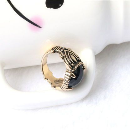 Picture of Men's Fashion Ring Imitation Gemstone Inlay Vintage Ring Accessory - Size: 7