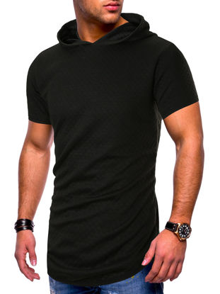 Picture of Men's T-Shirt Fashion Casual Solid Color Top - Size: XXL