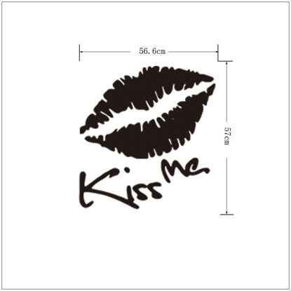 Picture of Wall Sticker Lip Pattern Removable Waterproof Sticker - Size: One Size