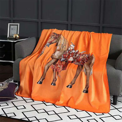 Picture of Blanket Animal Pattern Print Square Shape Blanket - Size: One Size