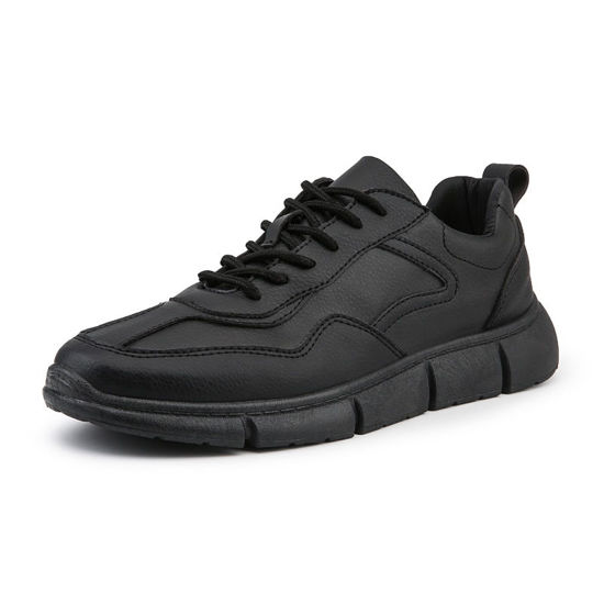 Picture of Men's Sports Fashion Shoes Solid Color Lacing Comfy Running Shoes - Size: 41