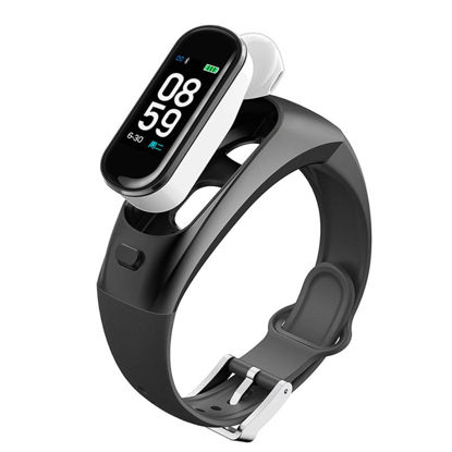 Picture of Smart Bracelet Sports Bluetooth Earphone Watch Intelligent Heart Rate Blood Pressure Monitoring - Size: One Size