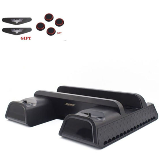 Picture of Vertical Stand With Dual Controller Charger Station Games For Sony Playstation 4 Cooling Fan - Size: Free