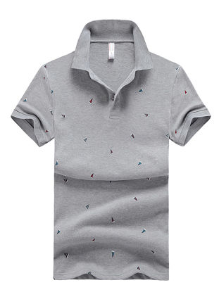 Picture of Men's Polo Shirt Comforty Casual Chic Design Short Sleeve Polo Shirt- Size: XL