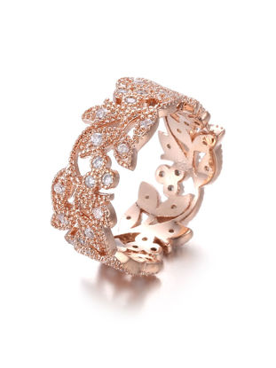 Picture of Women's Ring Rhinestone Inlay Shine Fashion Ring Accessory- Size: 9