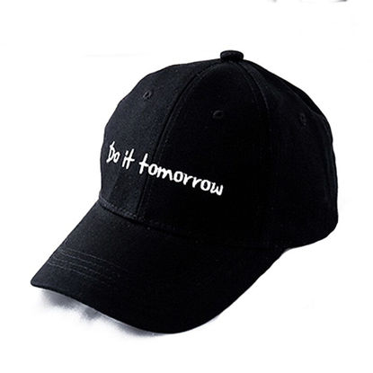 Picture of Kid's Baseball Cap Solid Color Fashion English Letter Embroidery Boys Girls Sun Hat- Size: One Size