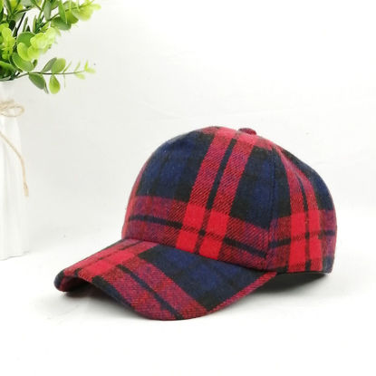 Picture of Women's Baseball Cap Plaid Design Fashion Hat Accessory- Size: One Size