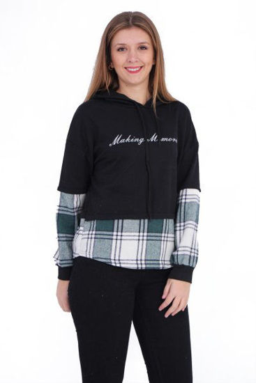 Picture of letter printed double color sweat