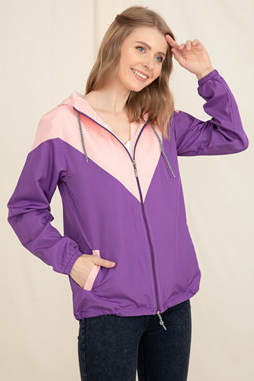 Picture of hooded trench raincoat