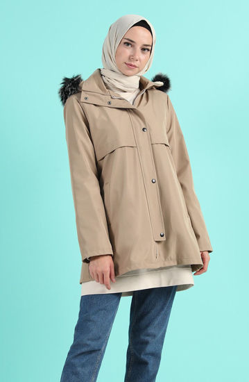 Picture of Biggie hooded coat with pocket